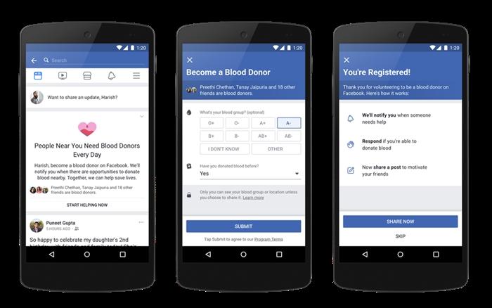 Facebook Kan Bağışı Özelliği Kullanımı