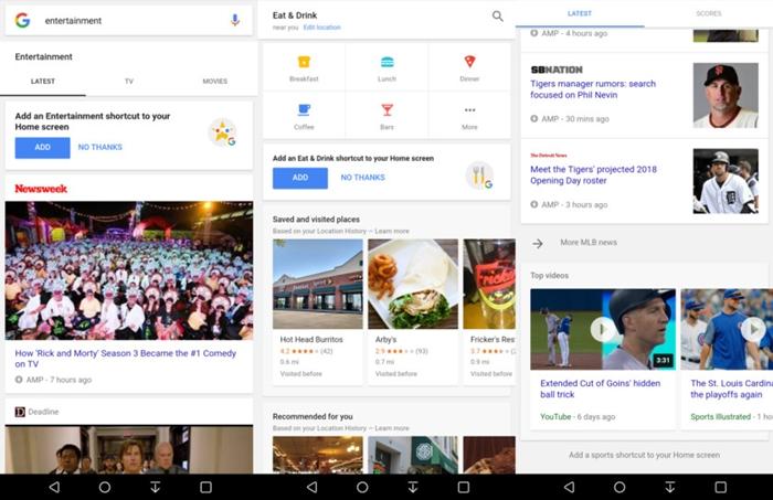 Google Uygulaması Ana Ekrana Kısayol Ekleme
