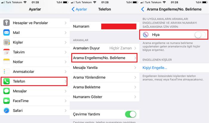 iPhone Arama Engelleme