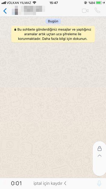 WhatsApp'ta sesli mesaj kilitleme