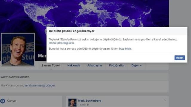 Mark Zuckerberg'i Facebook'ta Engelleyebilirsiniz!