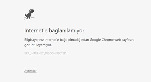 internete bağlanamama sorunu