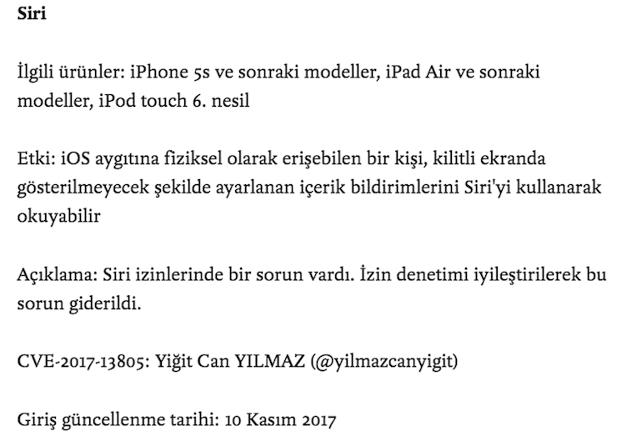 Siri Güvenlik Açığı