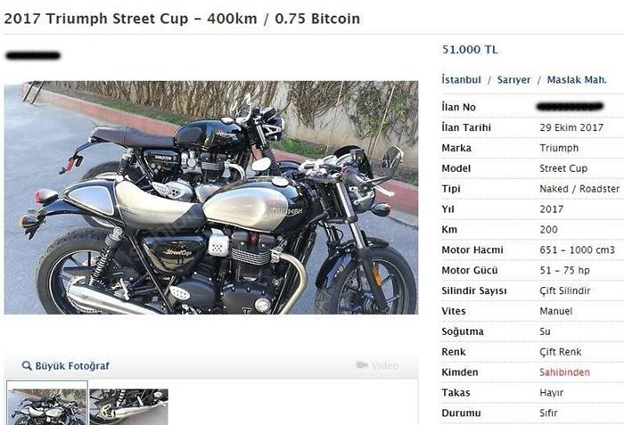 Bitcoin Motosiklet