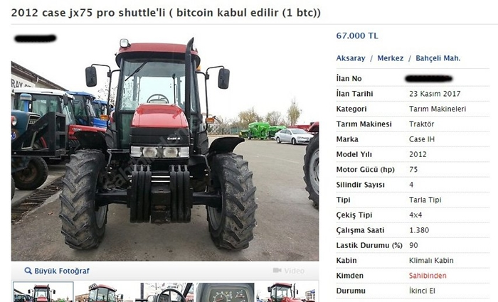 Traktör Bitcoin
