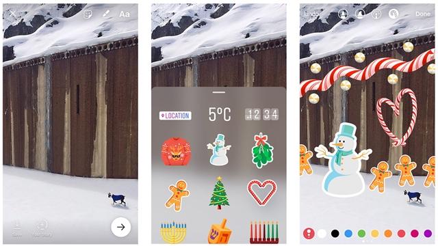 Instagram, Yılbaşı Temalı Yenilikler