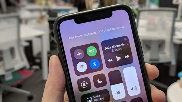 iOS 11.2'de Wi-Fi ve Bluetooth Kısayolları