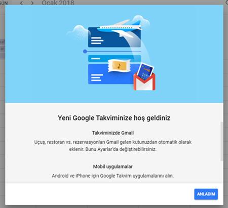Google Takvim Uygulaması Yenilendi