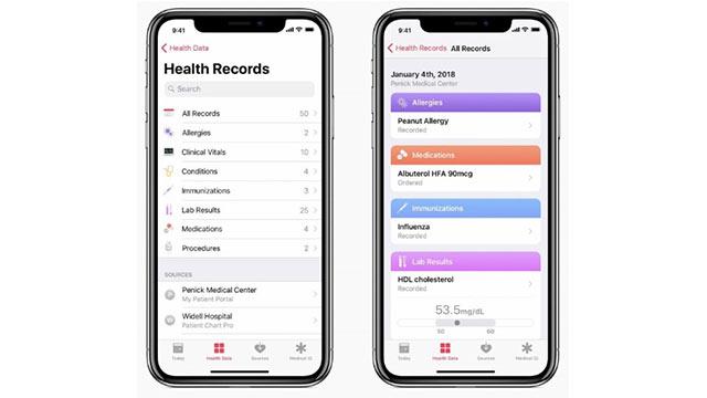 iOS 11.3 Sağlık Uygulaması