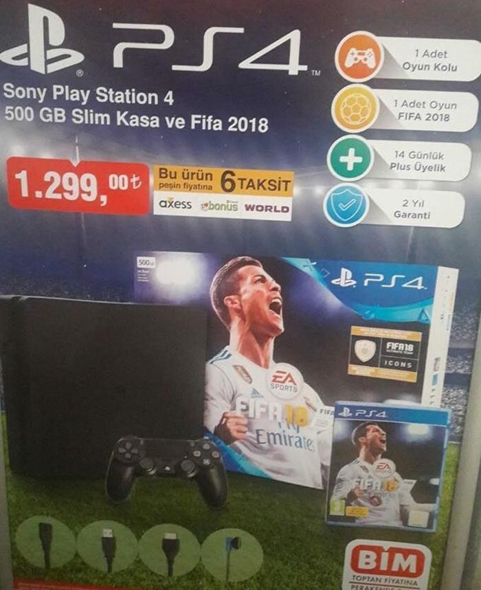 BİM PS4 FIFA 18