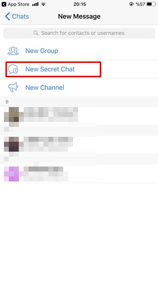 Telegram gizli sohbet