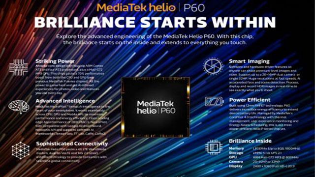 MediaTek Helio P60 Özellikleri