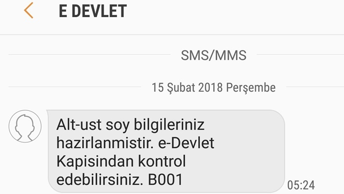 e-devlet mesaj