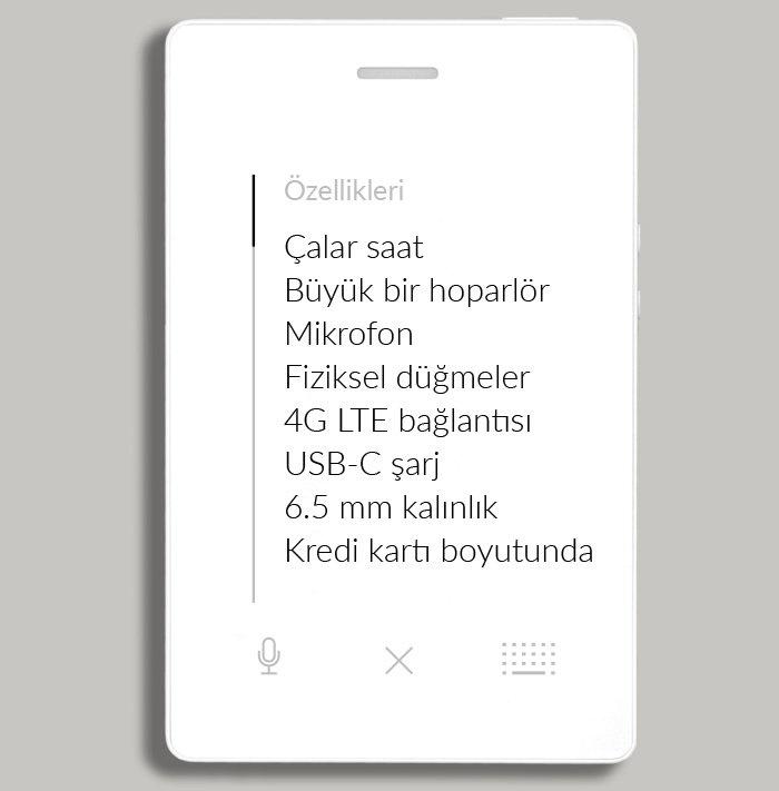 Light Phone 2 özellikleri