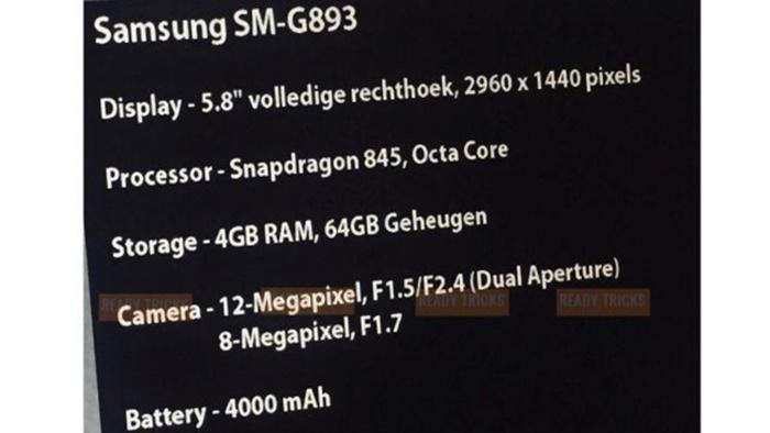 Samsung Galaxy S9 Active özellikler