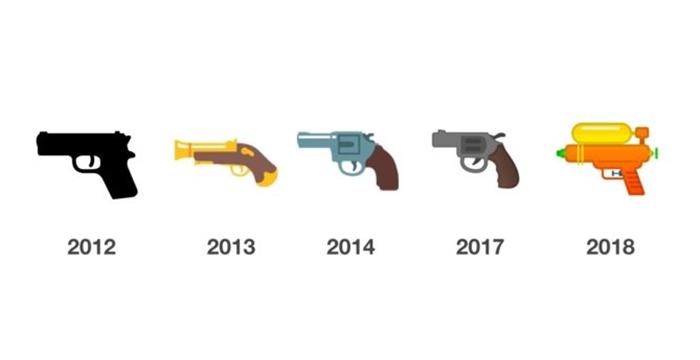 google silah emojisi