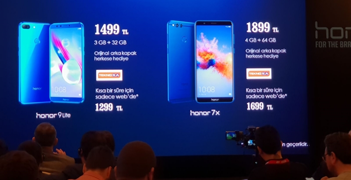 Honor 7X ve Honor 9 Lite
