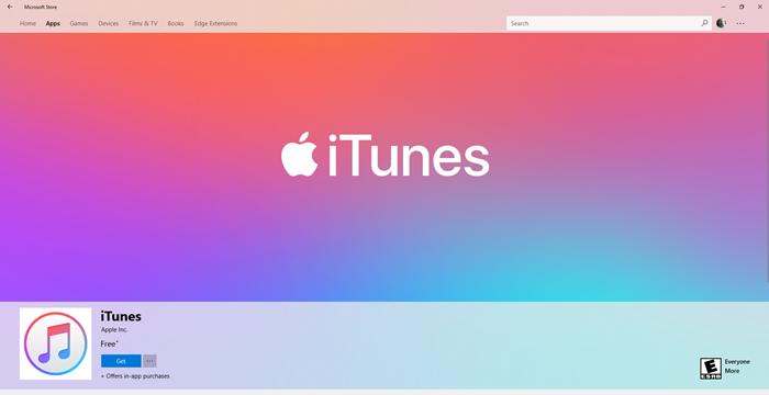 iTunes windows mağazası