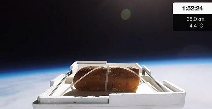 uzaya ekmek gönderen youtuber