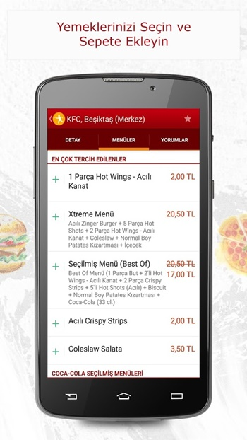 yemeksepeti app