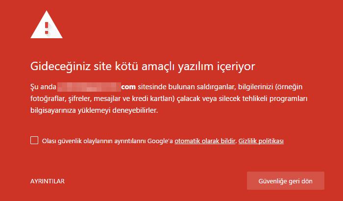bu web sitesi kötü amaçlı yazılım içeriyor