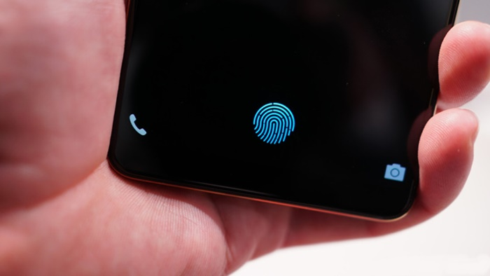 Samsung Galaxy S10 parmak izi okuyucu