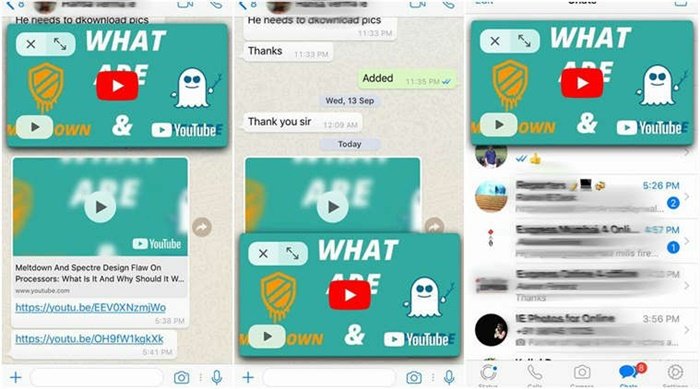 WhatsApp Facebook Video