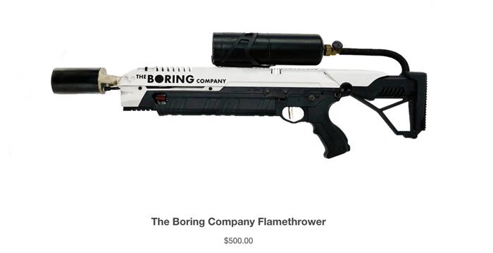 the boring company alev silahı