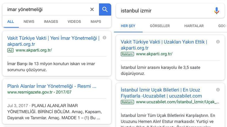 google reklamları ak
