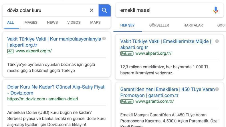 google reklamları ak parti