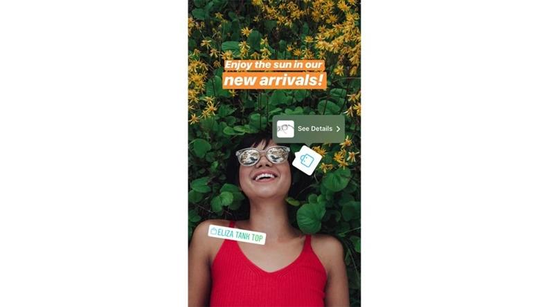 Instagram Hikayeler alışveriş özelliği