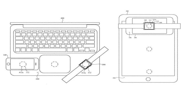 Apple Cihazların Birbirlerini Şarj Etmesi Patent Görseli