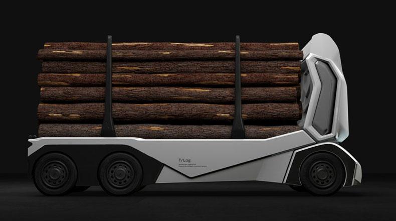 Elektrikli Sürücüsüz Kamyon T Log 2