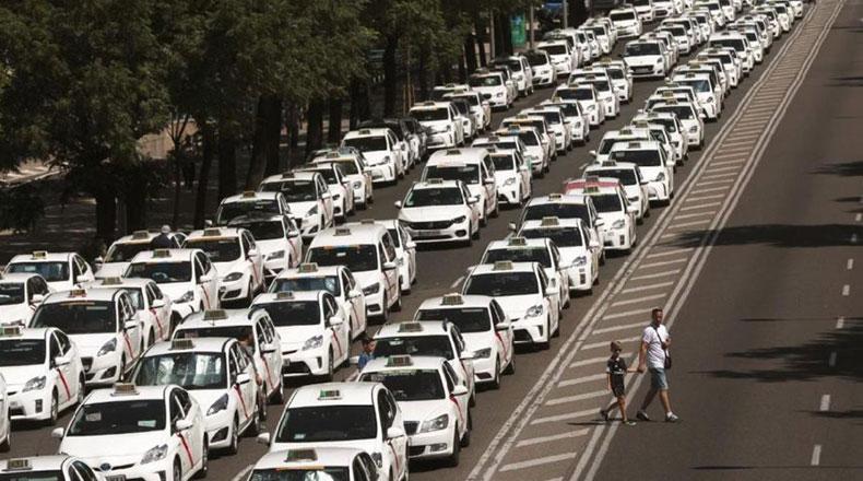 İspanya Uber Karşıtı Gösteriler 2