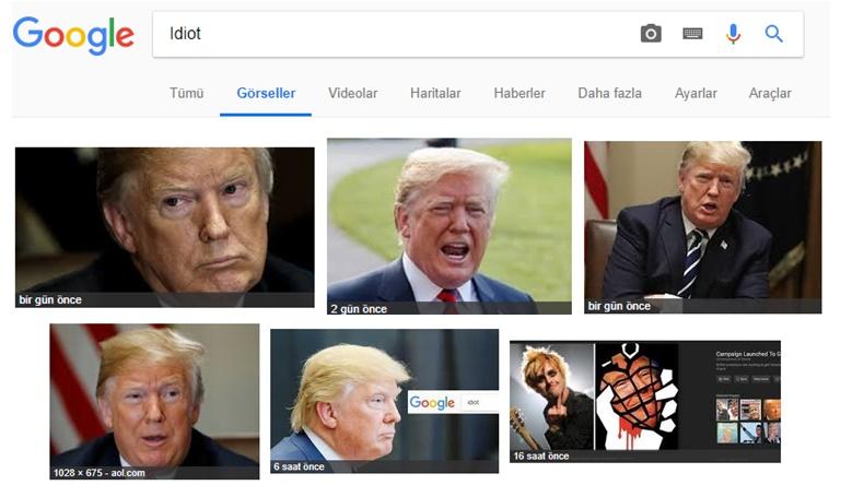 Donald Trump Google Idiot