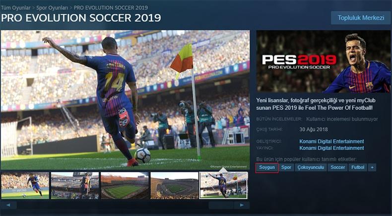 """Oyuncular PES 2019'un Steam Etiketine """"Soygun"""" İbaresini Ekledi"""