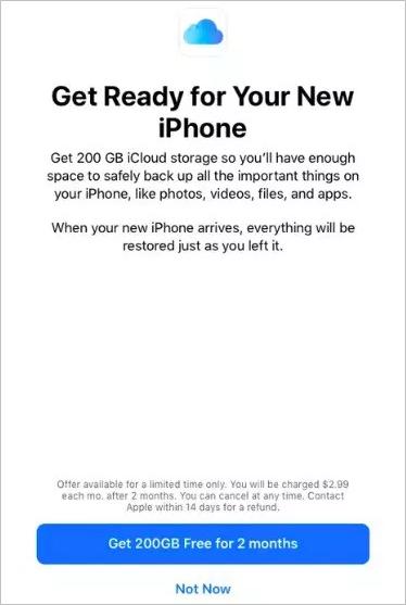 Apple'dan 200 gb icloud hediyesi