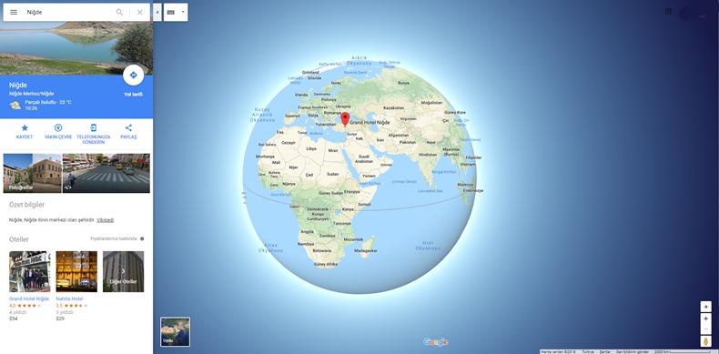Google Maps Küre Şekli