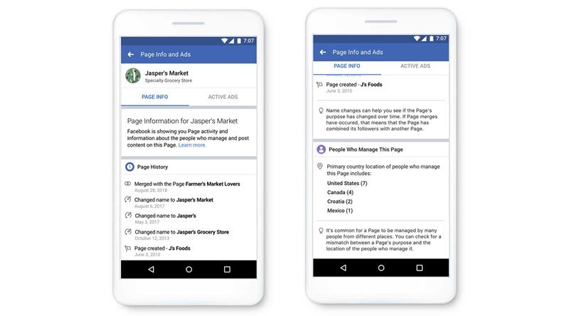 Facebook sayfalar özellikler