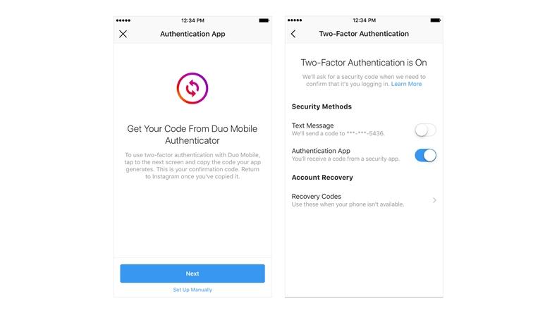 iki faktörlü kimlik doğrulama Instagram