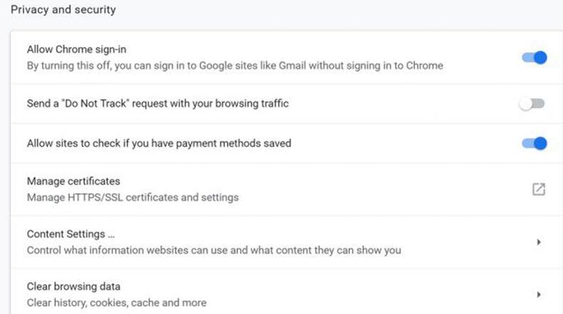 Google Chrome Yeni Seçenek 2