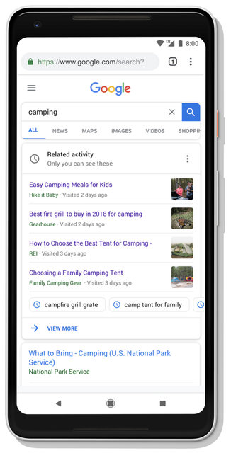 Google kolay erişim