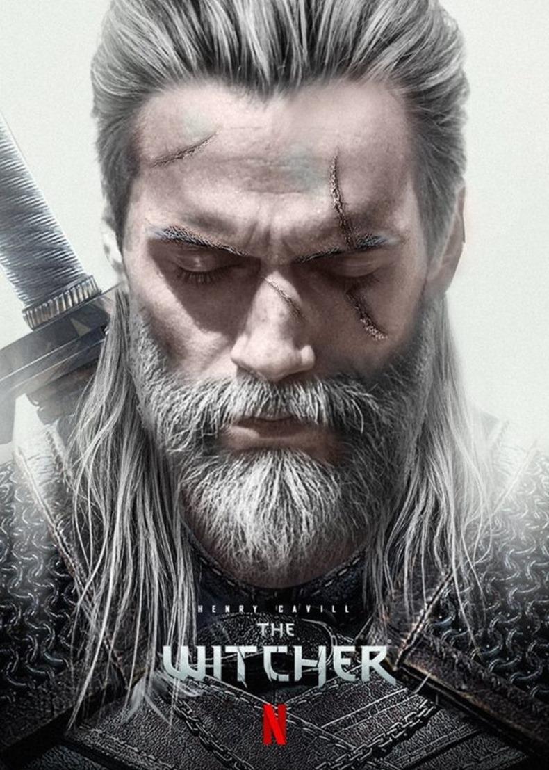Henry Cavill The Witcher Geralt pozu