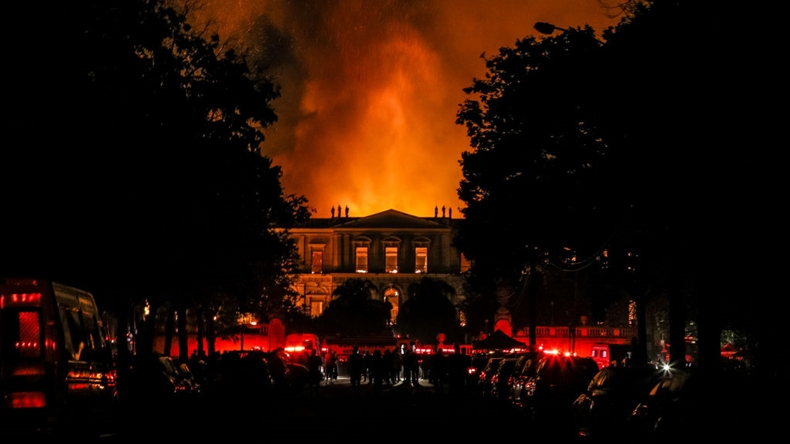 brezilya müze yangın