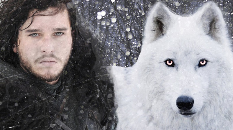 Jon Snow with Ghost