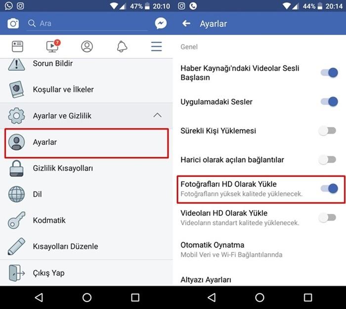 Android'den Facebook'a HD Fotoğraf Nasıl Yüklenir?