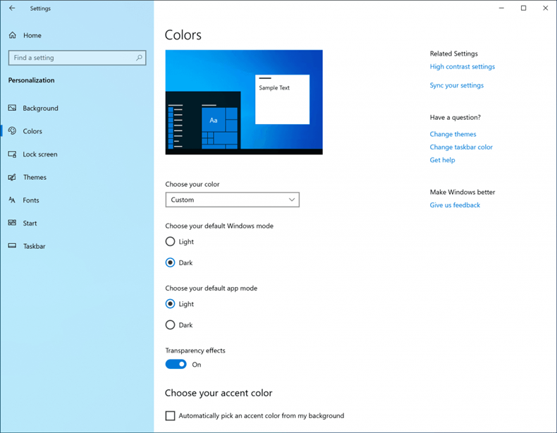 Windows 10 light mode 1