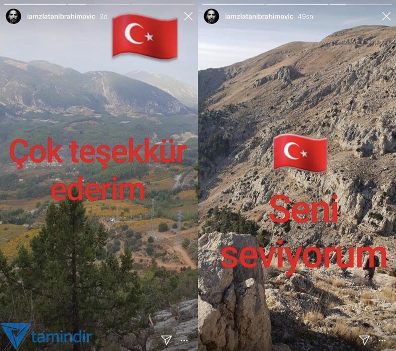 Zlatan Ibrahimovic türk bayrağı Instagram