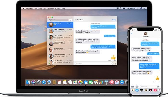 iMessage Mac ve iPhone