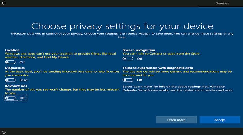 Microsoft Windows 10 Kullanıcı Verileri 2